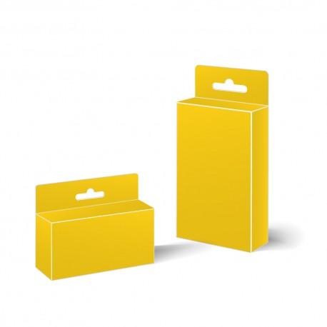 Pudełko standardowe z możliwością zawieszenia.